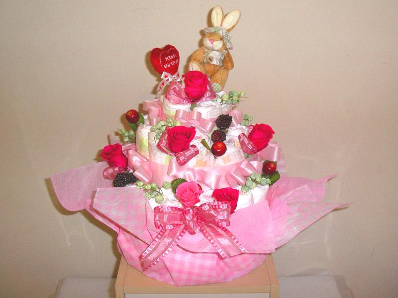 オリジナルオムツケーキ